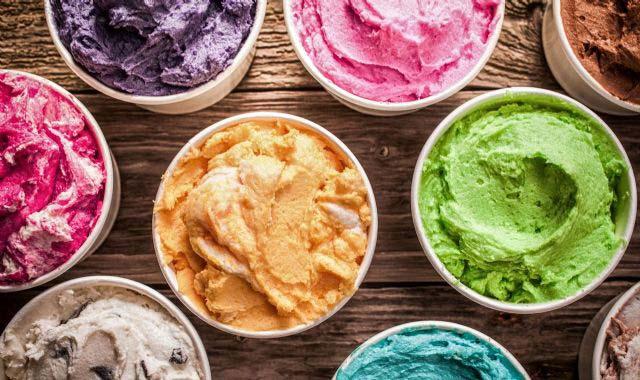 טעמי גלידה, טעמים של גלידות