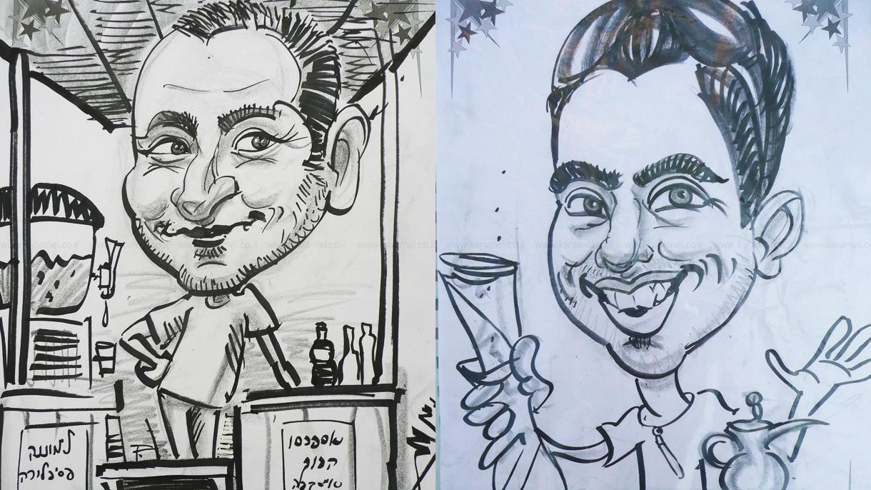 אמיר דיקרמן - קריקטורות לאירועים - 073-7758259